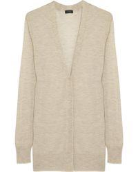 Joseph Fine Knit Cashmere Cardigan in Natural | Lyst