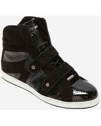 Jimmy Choo Cubed Print Patent Leather High-top Sneaker - Lyst