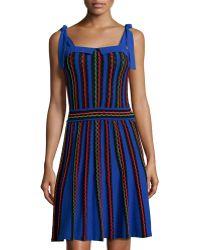 M Missoni Tie-Strap Striped Dress - Lyst