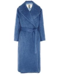 Topshop Unique Oversized Mohairblend Blanket Coat - Lyst