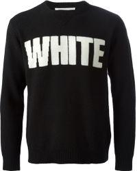 White Mountaineering White Crew Neck Sweater - Lyst
