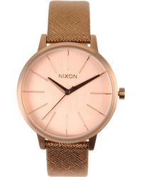 Nixon Brown Wrist Watch - Lyst