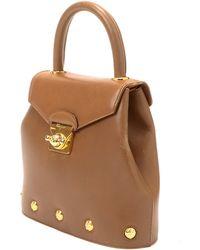 Ferragamo Brown Handbag gold - Lyst