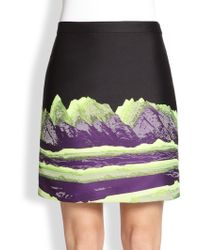 Alexander Wang Space Mountain-Print Jacquard Pencil Skirt - Lyst