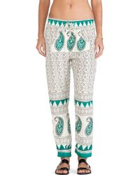 Jen's Pirate Booty Green Buddah Pant - Lyst