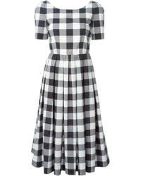 Dolce & Gabbana Vichy Gingham Dress black - Lyst