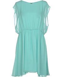 Alice + Olivia Blue Short Dress - Lyst
