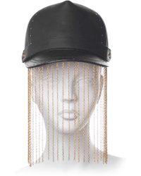 House of Malakai - Chain Fringed Leather Baseball Hat - Lyst