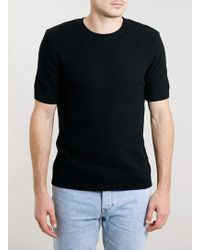 Topman Black Short Sleeve Jumper - Lyst