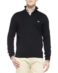 Lacoste Half-Zip Knit Sweater - Lyst