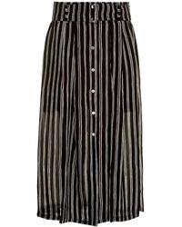 A.L.C. Mcdermott Silk-Chiffon Striped Skirt - Lyst