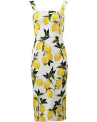 Dolce & Gabbana | Lemon Print Dress | Lyst