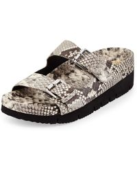 Ash Takoon Snake-Embossed Leather Sandal - Lyst