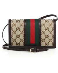 Gucci | Vintage Web Wallet With Strap | Lyst