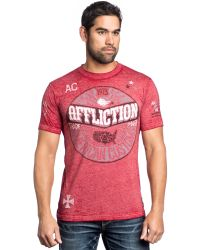 Affliction Ac Anthem 50/50 Graphic T-Shirt - Lyst