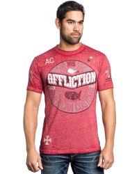 Affliction Ac Anthem 50/50 Graphic T-Shirt - Lyst