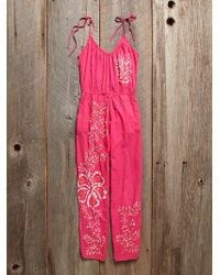 Free People Vintage Cotton Jumpsuit - Lyst