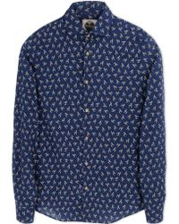 Mitchumm Industries Long Sleeve Shirt blue - Lyst