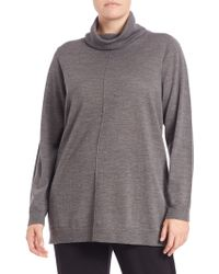 Eileen Fisher | Merino Wool Turtleneck Top | Lyst