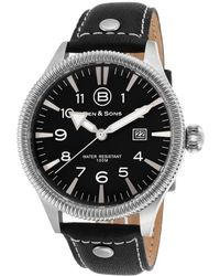 Ben Minkoff - Ranger Black Genuine Leather And Dial Ss - Lyst