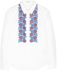 Suno White Embroidery Shirt - Lyst