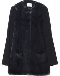 Collection Designed By Giada Forte Fur Front Bosco Coat - Lyst