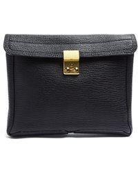 3.1 Phillip Lim Black Pashli Clutch - Lyst