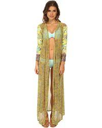 Maaji Hickory Victory Kimono Cover-Up - Lyst