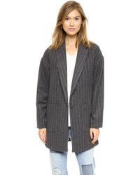 Elizabeth And James Carson Striped Coat  - Lyst