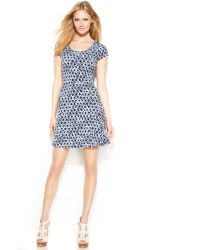 Michael Kors Michael Shortsleeve Printed Dress - Lyst