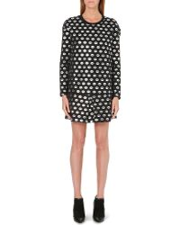 Markus Lupfer Smacker Foil Print Dress Black Silver - Lyst