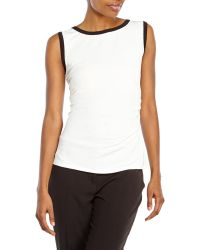 Laundry by Shelli Segal Pearl Ruched Tank - Lyst