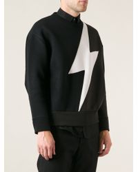 Neil Barrett Lightning Print Sweater - Lyst
