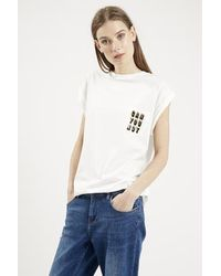 Topshop Can You Not Tee By Tee And Cake white - Lyst