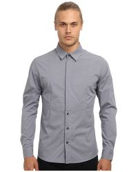 Pierre Balmain Half Hidden Button Stretch Shirt - Lyst