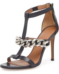 Givenchy Leather Chain Tstrap Sandal - Lyst