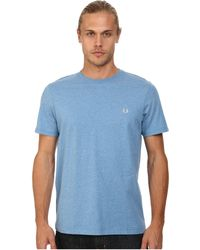 Fred Perry Crew Neck T-Shirt blue - Lyst