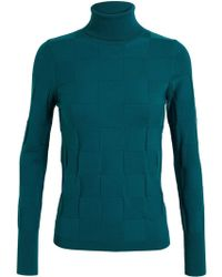 Roksanda Ilincic Colour Block Roll Neck Knit - Lyst