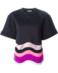 Issa Wavy Hem T-Shirt Blouse - Lyst