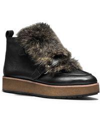 Coach X Blitz Sampson Rabbit Fur Leather Ankle Boots - Lyst