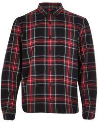 River Island Boys Black Tartan Check Shirt - Lyst