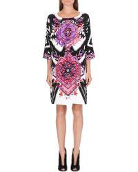Emilio Pucci Printed Silk Dress Black - Lyst