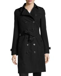 Burberry Long Slim Trenchcoat - Lyst