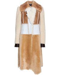 Calvin Klein - Patchwork Shearling Coat - Lyst