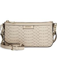 DKNY Perforated Python Small Crossbody Bag - Lyst