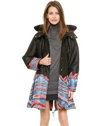 Alexander Wang Pleated Parka with Patch Pockets  Poseidon - Lyst