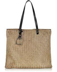 La Martina - Polo Club Medium Woven Leather Shopping Bag - Lyst