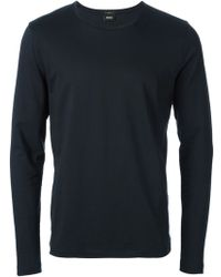Boss by Hugo Boss Leo Long Sleeve Tshirt - Lyst