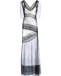 Alberta Ferretti Long Dress - Lyst