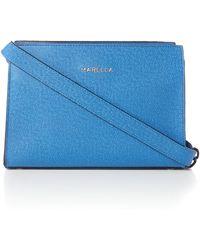 Marella - Blue Small Saffiano Cross Body Bag - Lyst